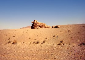 Unexcavated Nabataean tomb in the Wadi Arabah