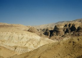 The mountains between Petra and the Dead Sea Rift Valley