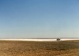 The salt flats of the Jafr Depression